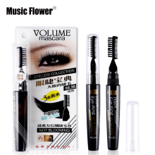 Music Flower Volume Curled Lashes Black Blue Purple Mascara Waterproof Densely Thick Eyelash Lengthening Eye Makeup With Comb(China)