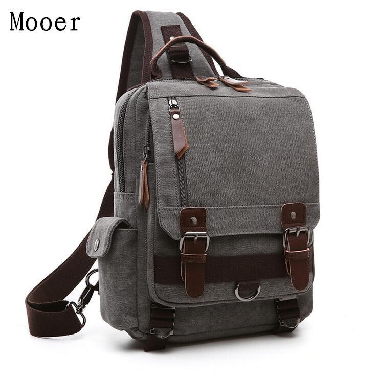 Fashion Men Crossbody bag Ipad Chest bag Travel Women Messenger bag Canvas Leisure shoulder bag <br>