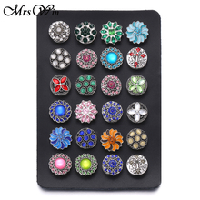 New Snap Jewelry Display High Quality Black Genuine Leather Snap Display for 24 PCS 18mm Snap jewelry Soft Display Stand