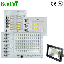 ECO CAT Smart IC SMD LED Chips Lamp 10W 20W 30W 50W 90W 220V For Outdoor FloodLight Cold White/Warm White