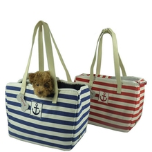 2017 Navy Style Red Blue Stripe Design Portable Pets Travel Bag Shoulder Pet Carrier for Dogs and Cats Elegant Sailor Slings(China)