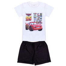 2017 summer new Boys car Clothing Sets Children Cartoon Cotton Short Sleeve T Shirt+ pants Suit Kids Clothes
