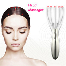 Head Massager Stress Relief Electronic Finger Gripper Claw Octopus Head Spa Vibration Scalp Massage Tool Health Care