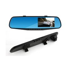 Free Shipping CAR 4.3''HD1080 Dual Lens Video Recorder Dash Cam Rearview Mirror Car Camera Waterproof  DVR Rear View Camera 2010