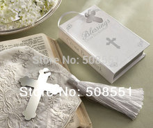 Free shipping GIFT Book Lovers Collection Cross Bookmark Christening / Baby Shower Favors 1pcs