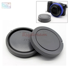 BlackGray Camera Rear Lens Cap + Body Front Cap For Sony E Mount NEX Lenses SEL50F18 SEL16F28 SEL18200 SEL1855 SEL55210 SEL30M35