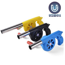 UZWELL 1PC BBQ Manual Fan Air Blower For Barbecue Fire Bellows Outdoor Cooking Picnic Camping Hand Crank Tool(China)