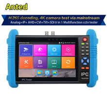 7 inch Handheld IPC AHD TVI CVI SDI HD CCTV Test Monitor with H.265/H.264, 4K Video display multi functional test