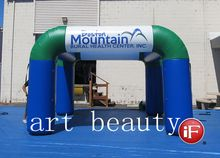 15ft x 15ft blue & green inflatable square booth dome tent advertising for promotion& decor free logo(China)