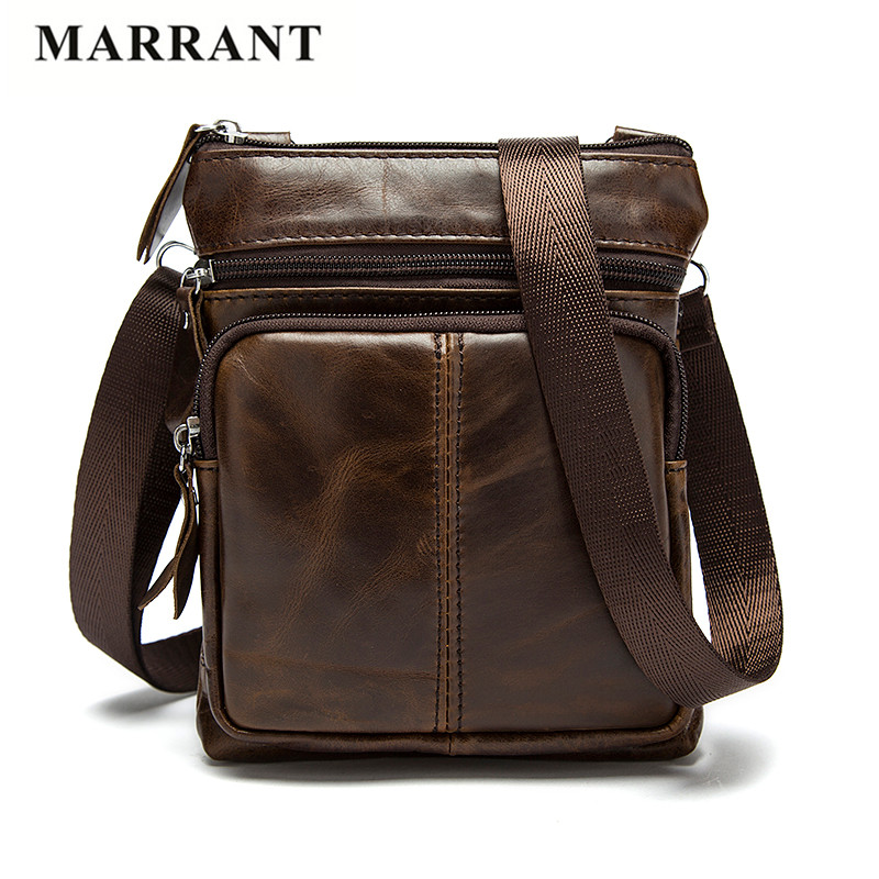 MARRANT Vintage 100% Genuine Leather Men Bags Small Crossbody Shoulder Handbags Casual Man Leather Messenger Mini Bags Male Bags<br><br>Aliexpress