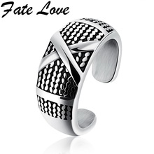 Fate Love Hiphop The Mystic Nine Customized Star Same Style Rings Stainless Steel Casting Cross Ring Jewelry For Man Party FL514