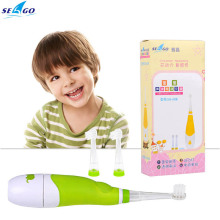 Seago Intelligent LED Light Children Waterproof Sonic Electric Toothbrush Battery Operated Oral Hygiene dental Care+2 extra head