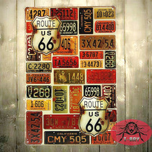 T-Ray Vintage Antique Tin Sign Retro Metal Painting Table Decor For BAR CLUB SHOP Cafe Home Wall hanging Decoration D-24