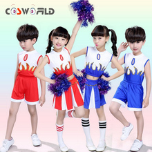 Cosworld School Boys Girls Football Bastetball Party Children Cheerleader Costume Dance Dress Skirt Uniform