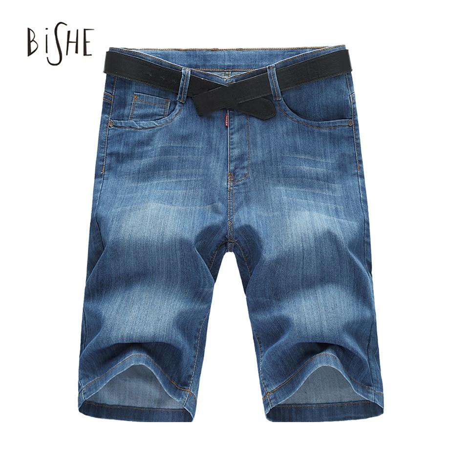 Men Shorts Summer New Knee Length Jeans Shorts Pants Slim Straight Cotton Denim Men Plus Size 36 38 40 42 44 46 48 50 52 Одежда и ак�е��уары<br><br><br>Aliexpress