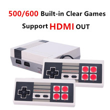 HDMI HD Retro Classic handheld game player family mini TV video game console Built-in 500/ 600 Games with 4 button controllers(China)