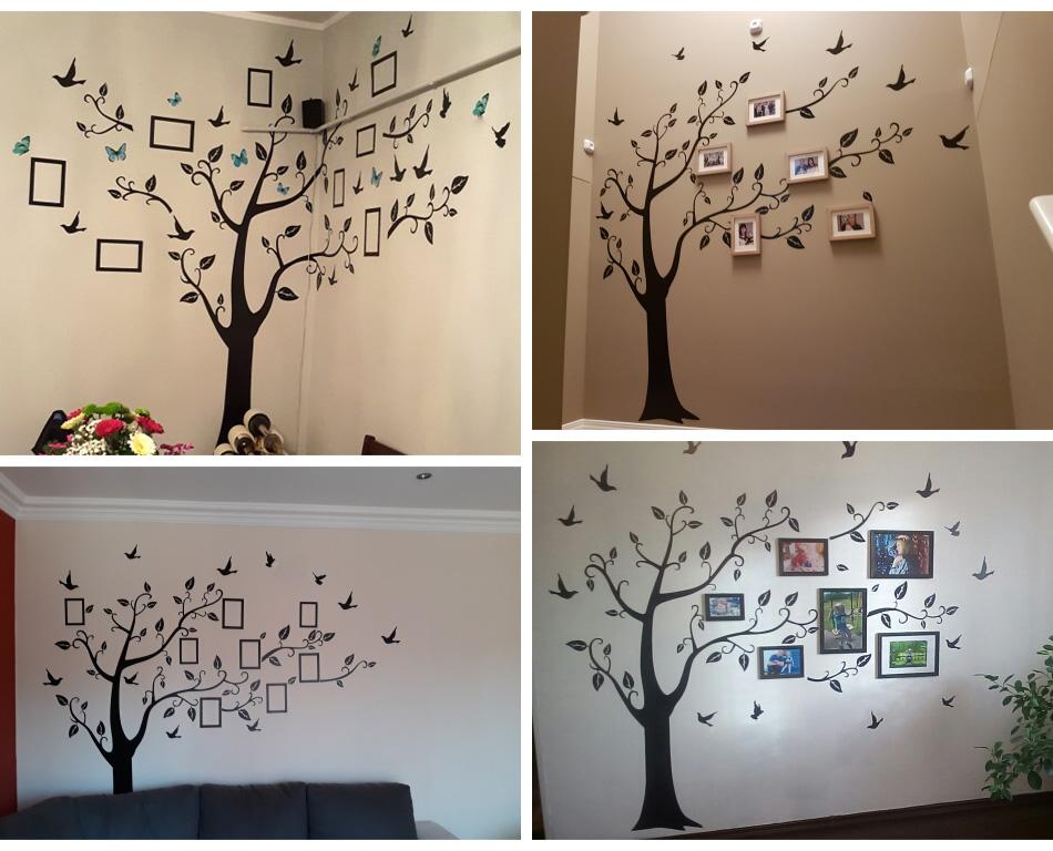 HTB1LueLX3vD8KJjSsplq6yIEFXaH - Large size 200*260cm colorful DIY photo vinyl tree family wall decal for living room-Free Shipping