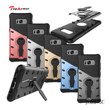 TopArmor For Samsung Galaxy S8 G9500 Case Shock proof 360 swivel Stand Netted Armor Anti-knock For Samsung S8 G9500 Cover Bags(China)
