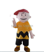 Hot selling 2015  1pcs cartoon character charlie brown mascot costume fancy dress costumes adult costume custom mascot suit