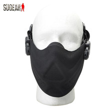 Outdoor Hunting Protective Half Face Mask Tactical Cycling Breathable Face Shield Military Detective Safety Lightweight Guard