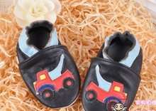 100% Head Layer Cow leather baby shoes black shoes with car toddler shoes baby girl shoes melee