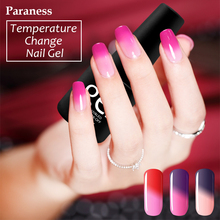 Paraness 2017 New Product Gel Nail Polish lucky Temperature Change Nail Color UV soak off  Thermo Mood Color gel Varnish