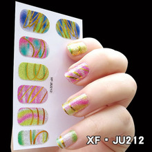 Pro Nail Art Sticker Polish Tools 12pcs Decoration Metallic Stamp 3D Brand Art Nail Decal Makeup Gilding Glitter Stickers Files