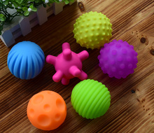 4-6pcs Textured Multi Ball Set develop baby's tactile senses toy Baby touch hand ball toys baby training ball Massage soft ball(China)