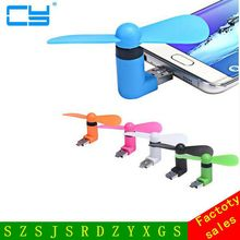 Best Price New Gadget 2 in 1 Mini Portable Micro USB Fans for MICRO USB For Samsung Android Phones(China)