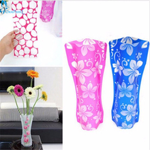 OnnPnnQ 1Pcs Eco-friendly Foldable Folding Flower PVC Durable Vase Home Wedding Party Easy to Store 27 x 11.5cm