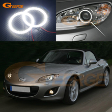For MAZDA MX-5 MIATA 09 10 11 12 13 14 15 XENON HEADLIGHT Excellent Angel Eyes Ultra bright illumination smd led Angel Eyes kit(China)