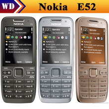 E52 Original Nokia E52 WIFI GPS JAVA 3G Russian Keyaboard Unlocked Mobile Phone In Stock refurbished