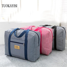 Waterproof Nylon Pouch Folding Travel Bags Men Women large Luggag Duffle Bag Carry on Hand Luggage Backpack space Packing Cubes