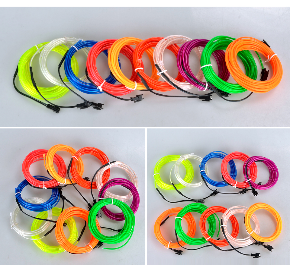 VooVoo 5M 10 Colors Car Styling DIY EL Cold Line Flexible Interior Decoration Moulding Trim Strips Light For Motorcycle and Cars_01 (12)