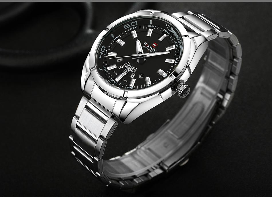 2017 NAVIFORCE Nouveau Top Marque Hommes de Montres Hommes En Acier Plein Imperméable Casual Quartz Date Horloge Mâle montre-Bracelet relogio masculino 15