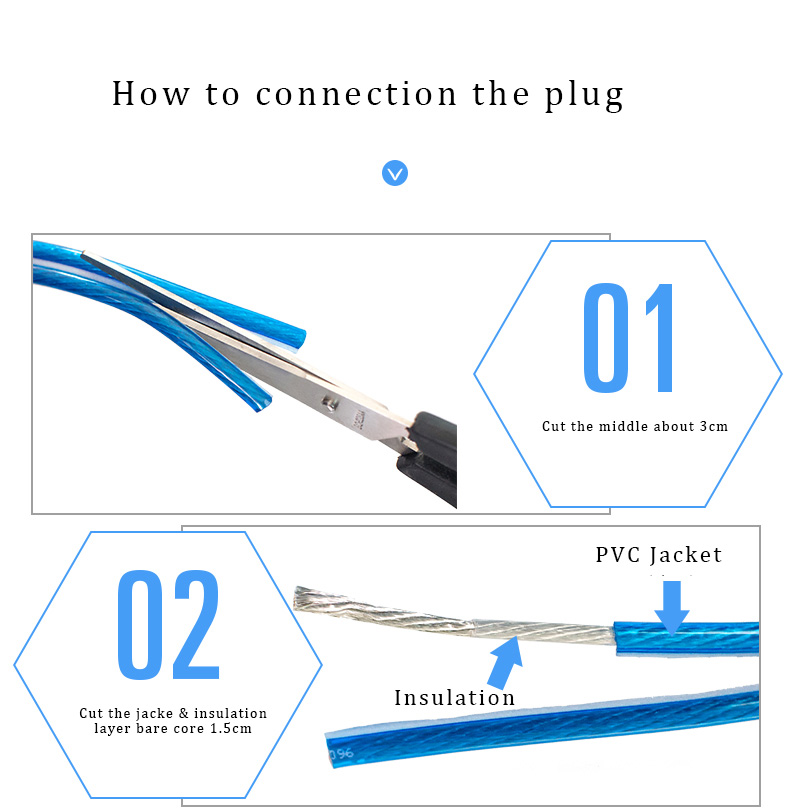 CHOSEAL DIY HIFI Audio Cable  Oxygen Free Pure Copper Speaker Cable for Car Audio Home Theater Speaker Wire Soft Touch Cable (7)