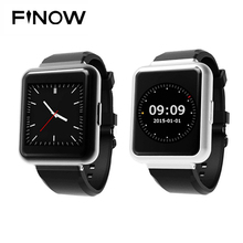 "Finow Q1 Square SmartWatch Android 5.1 MTK 6580 Quad core 512mb+4G 1.54"" Display WiFi GPS 3G Bluetooth For IOS Android PK DZ09"