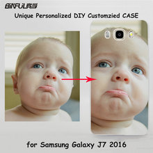 BiNFUL Unique Personalized Customized DIY case transparent clear hard case cover for Samsung galaxy j7 j710 j5 j510 j3 e7 e5 c7(China)