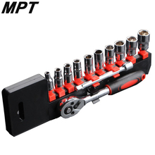 "MPT Wrench Sleeve Set Ratchet Big Fast 1/4"" Auto Auto Repair Hardware Combination Tool Auto Repair Kit Hand Tools"