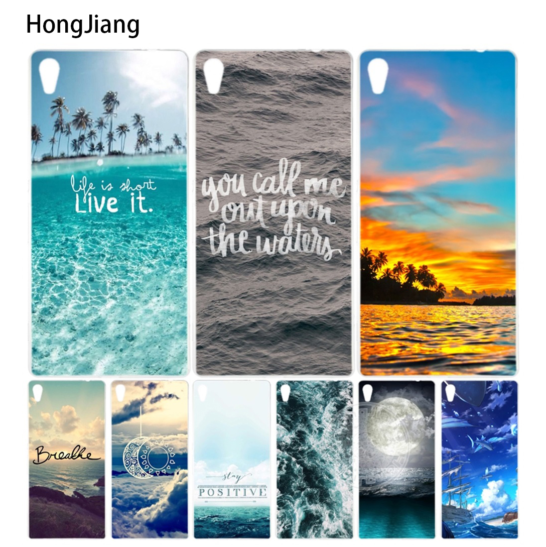 HongJiang Beautiful Ocean Scenery Cover phone Case sony xperia C6 XA ULTRA X XP L1 X compact XR/XZ/XZS PREMIUM