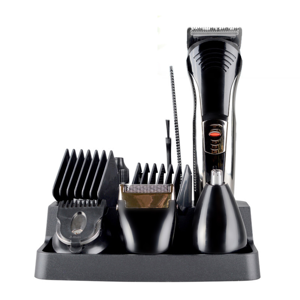 7 in 1 Rechargeable Grooming Kit Pro Barber Salon Hair Cut Trimmer Clipper Face Care Men Beard Trimmer Machine<br>