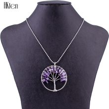 FNC1501286 Top Quality 6 Colors Necklace Fashion Woman's Necklace Sets Stone Unique Life wisdom tree Design Wedding Jewelry