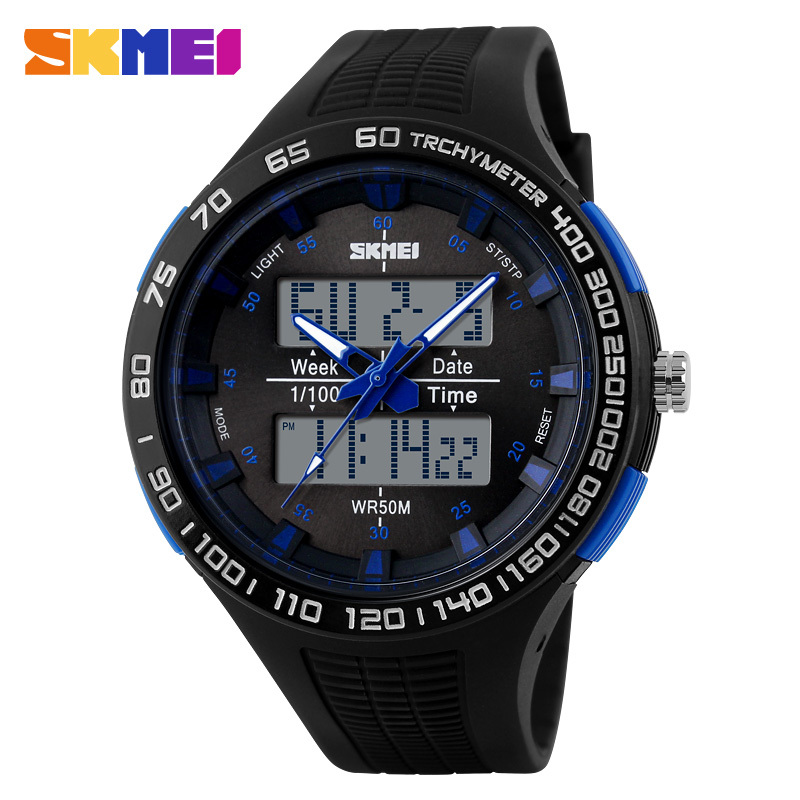 2017 New Men Sports Watches LED Digital Quartz Watch Military Outdoor Big Watches Men Waterproof Wristwatches Montre Homme