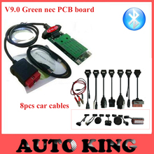 2017 NEW V9.0 vd tcs cdp plus +Full 8pcs car cables 2015.1 software for cars trucks diagnostic tool obd obd2 bluetooth Free ship