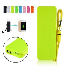 Portable Practical Ultra-thin 3000mAh Vivid colors mobile USB power bank general charger external backup battery pack