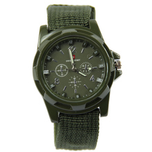 1 PC Men Women Military Army Bomber Fabric Canvas Strap Sports Quartz Wrist Watch BK