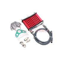 Oil Cooler Cooling Radiator For 50cc 70cc 90cc 110cc 125cc Horizontal Engine Dirt Bike/Pit Bike/Monkey Bike/ATV Engine Cylinder