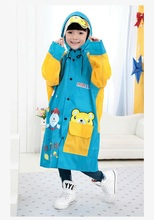 100% Original Cartoon Raincoat For Kids Waterproof Unisex RainCoat  Poncho 2015 Fashion Lovely Rain Gear L-XXXL