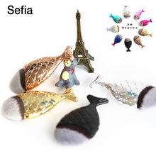 Sefia Brand 2017 Fashion Mermaid Makeup Brushes Powder Blush Foundation Make Up Brush Cosmetic Tools Fish Brush   Bag Separately