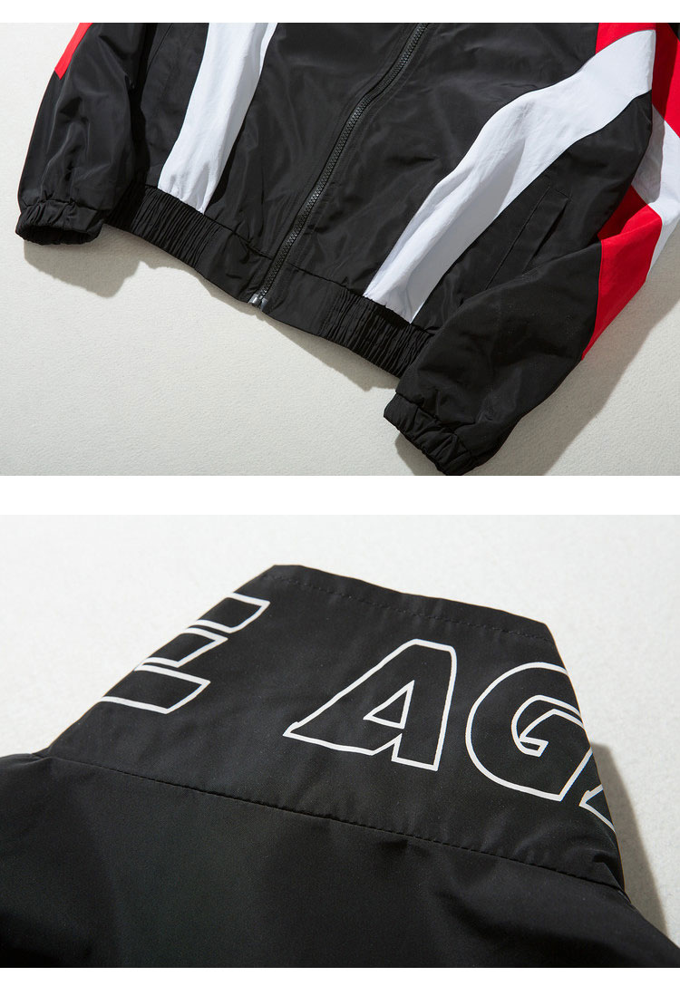 Vintage Color Block Zip Up Jackets 4